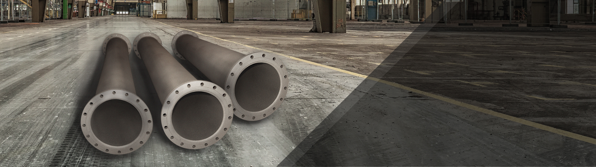 Technological piping lined with anti-corrosion and abrasion resistant coating